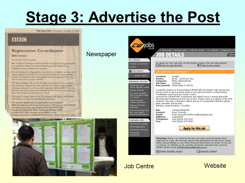 Stage 3: Advertise the Post