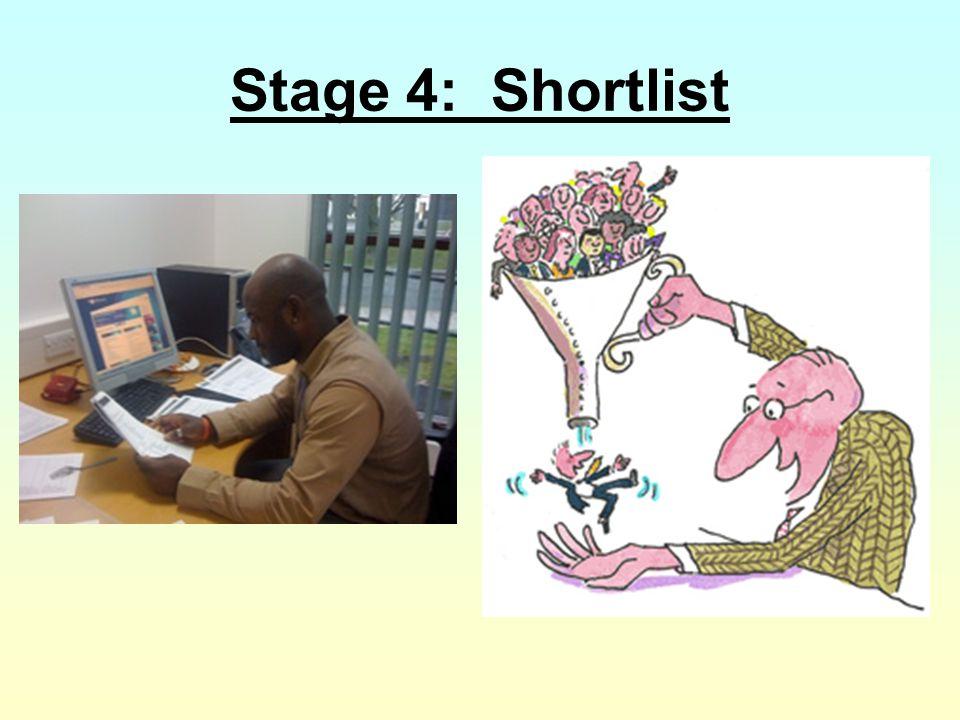 Stage 4: Shortlist