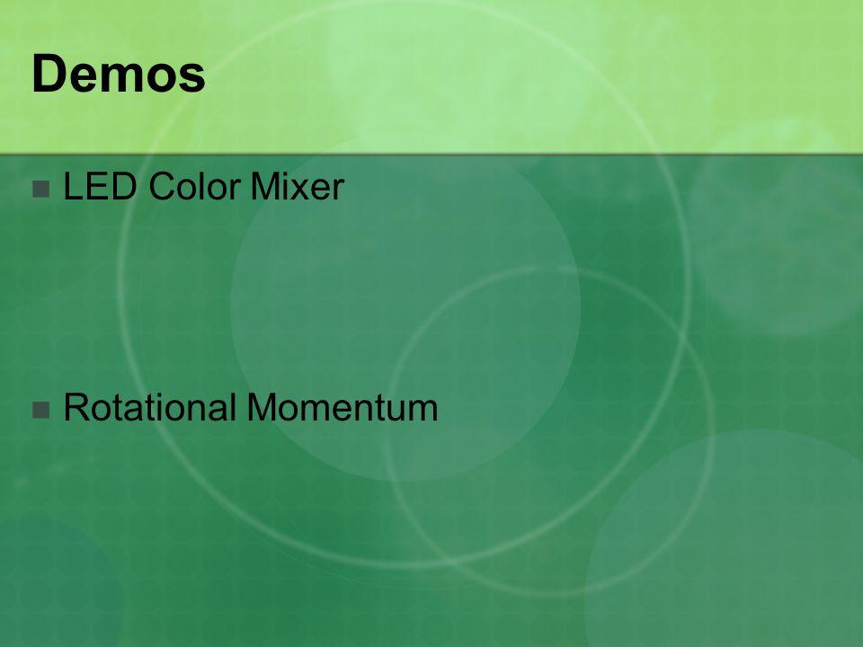 Demos LED Color Mixer Rotational Momentum