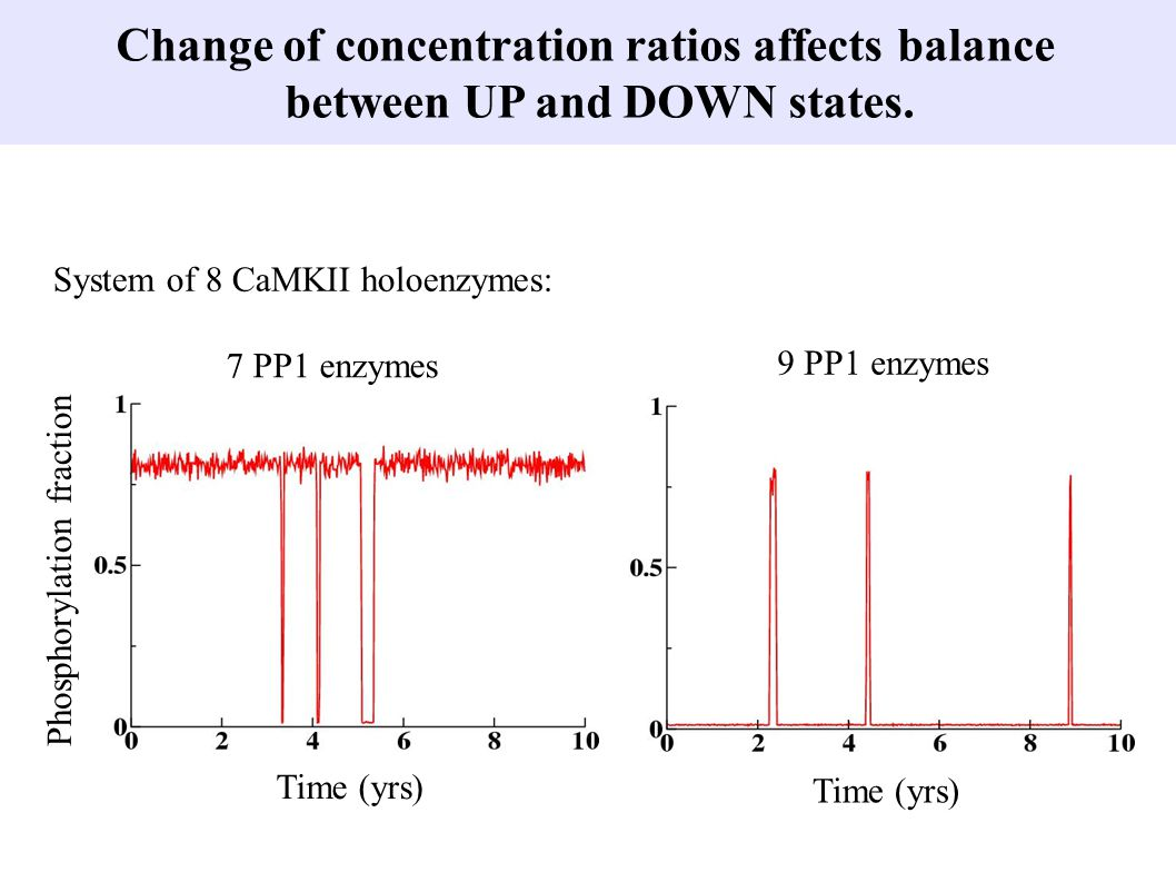 Change of concentration ratios affects balance