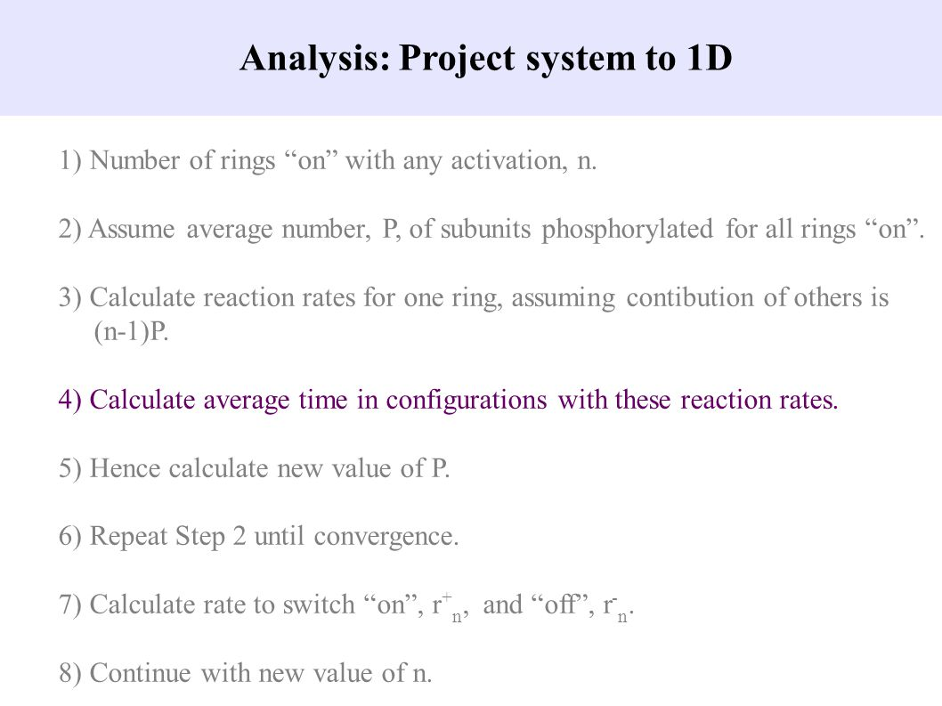 Analysis: Project system to 1D