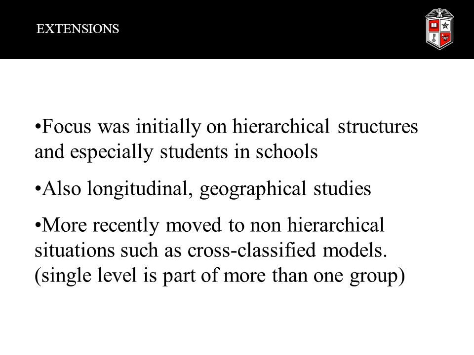 Also longitudinal, geographical studies