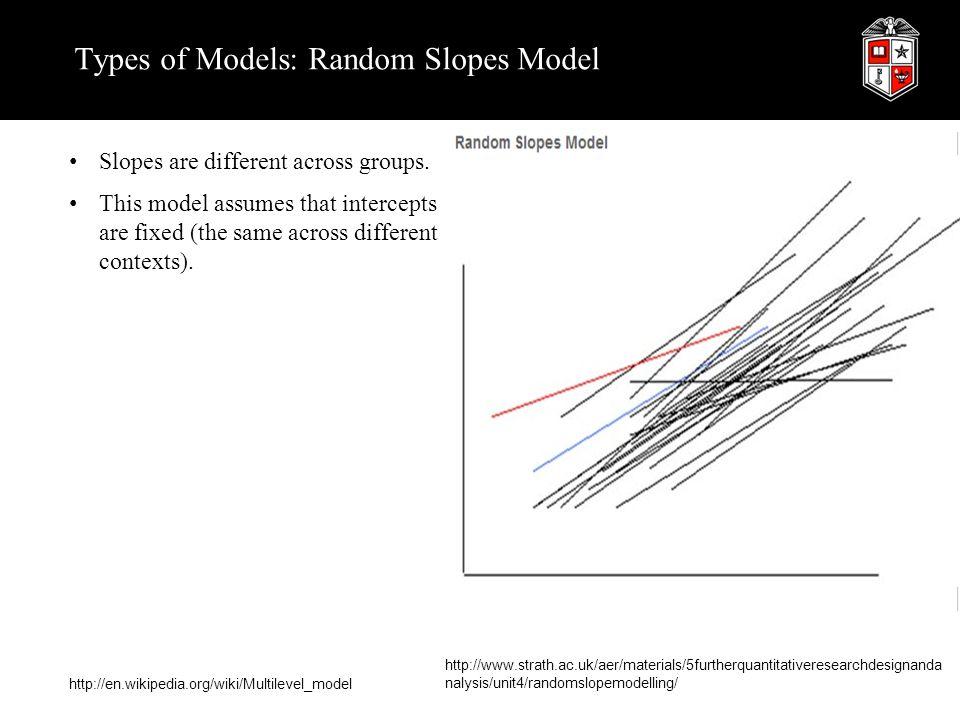 Types of Models: Random Slopes Model