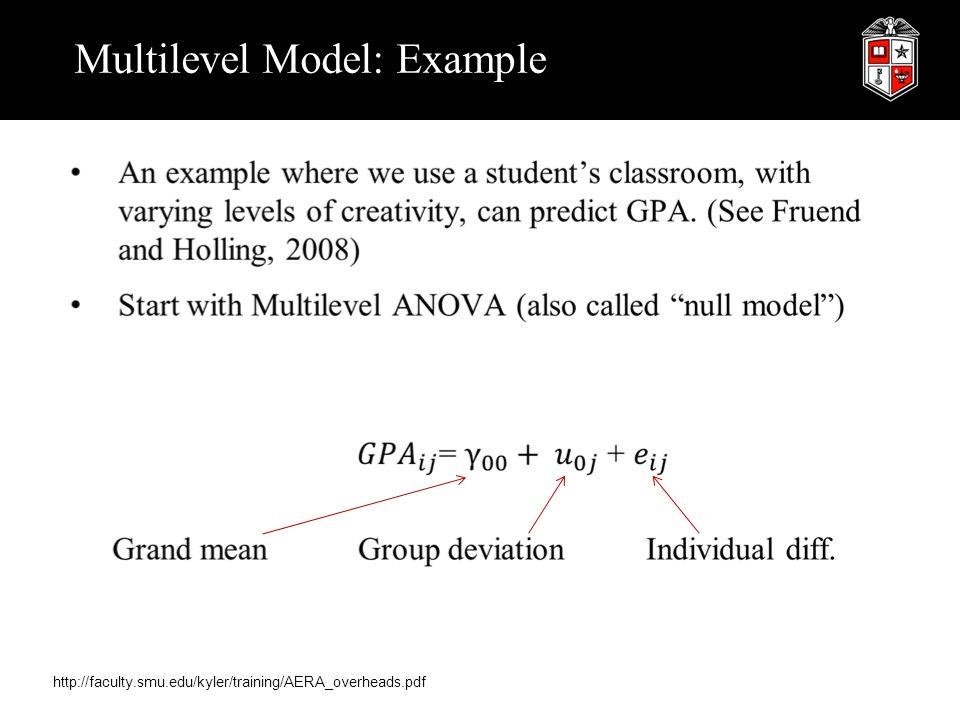 Multilevel Model: Example