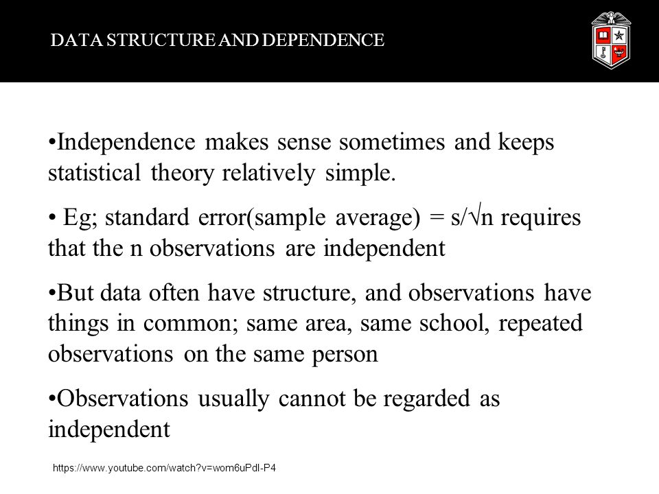DATA STRUCTURE AND DEPENDENCE