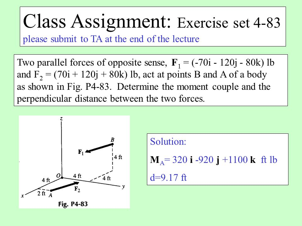Class Assignment: Exercise set 4-83