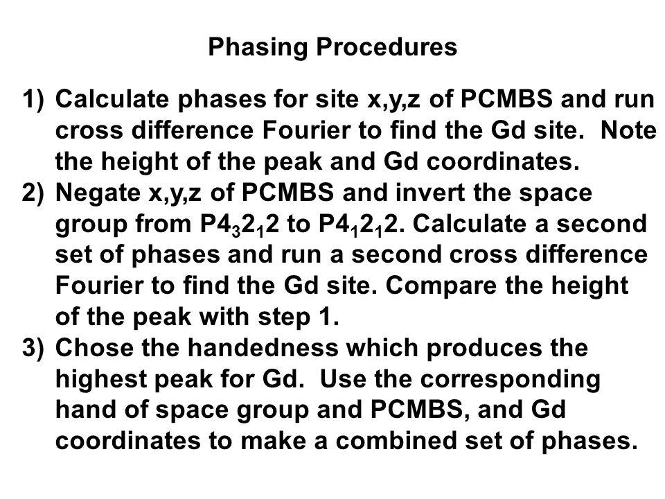 Phasing Procedures