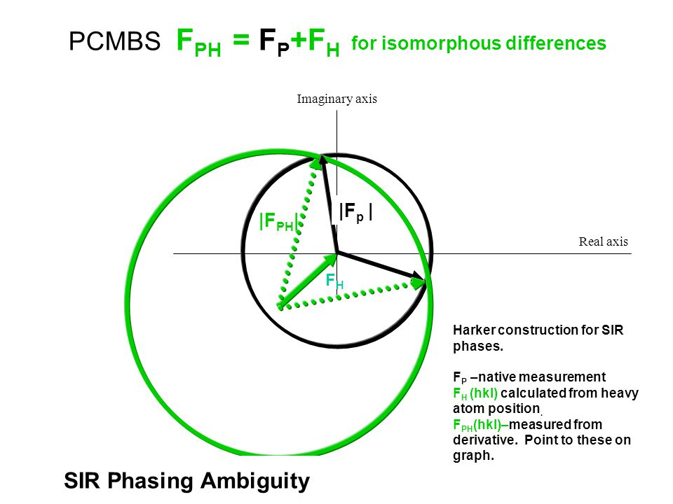PCMBS FPH = FP+FH for isomorphous differences
