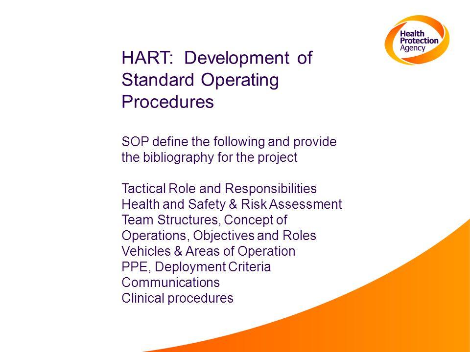 HART: Development of Standard Operating Procedures