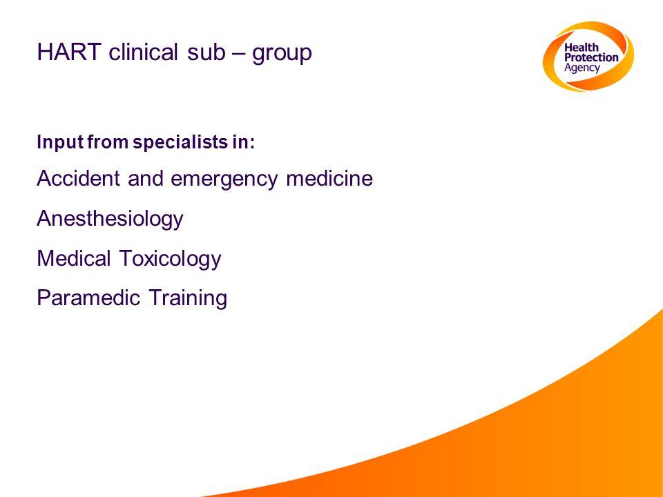 HART clinical sub – group