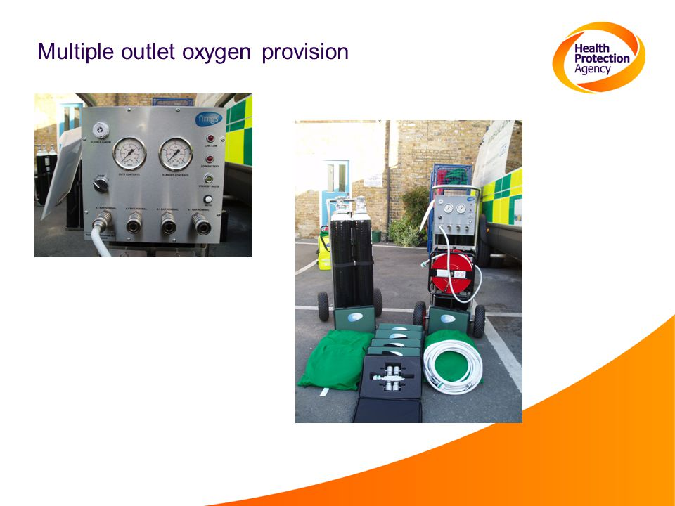 Multiple outlet oxygen provision