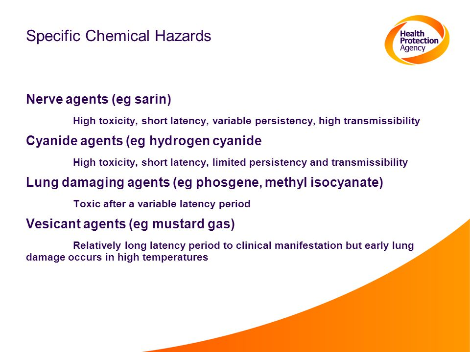 Specific Chemical Hazards