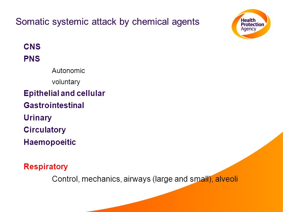 Somatic systemic attack by chemical agents