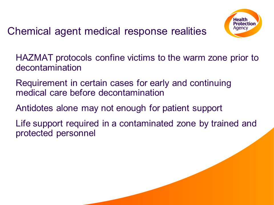 Chemical agent medical response realities