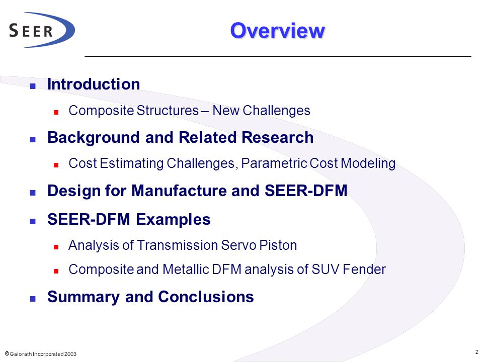 Overview Introduction Background and Related Research