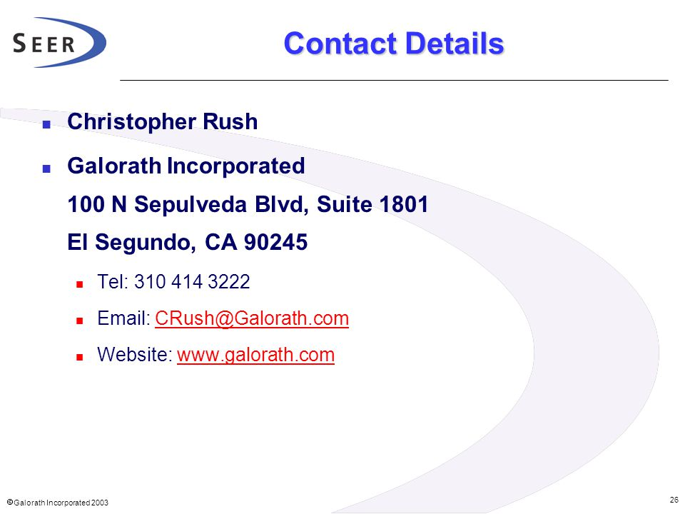 Contact Details Christopher Rush
