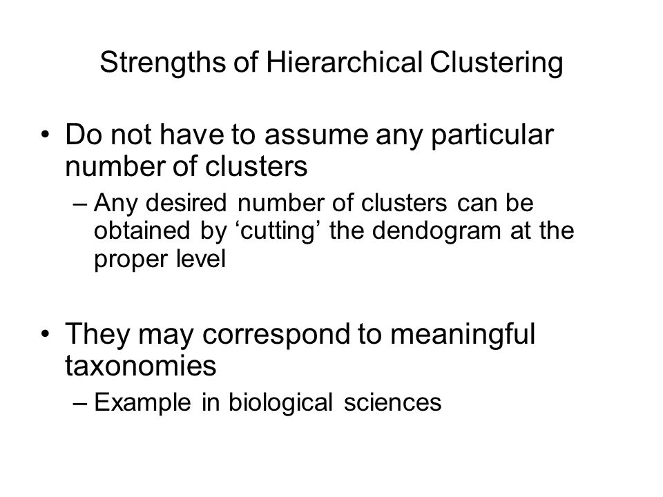 Strengths of Hierarchical Clustering