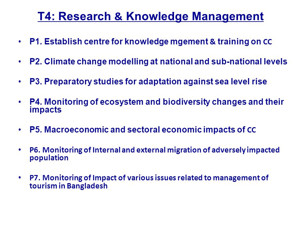 T4: Research & Knowledge Management