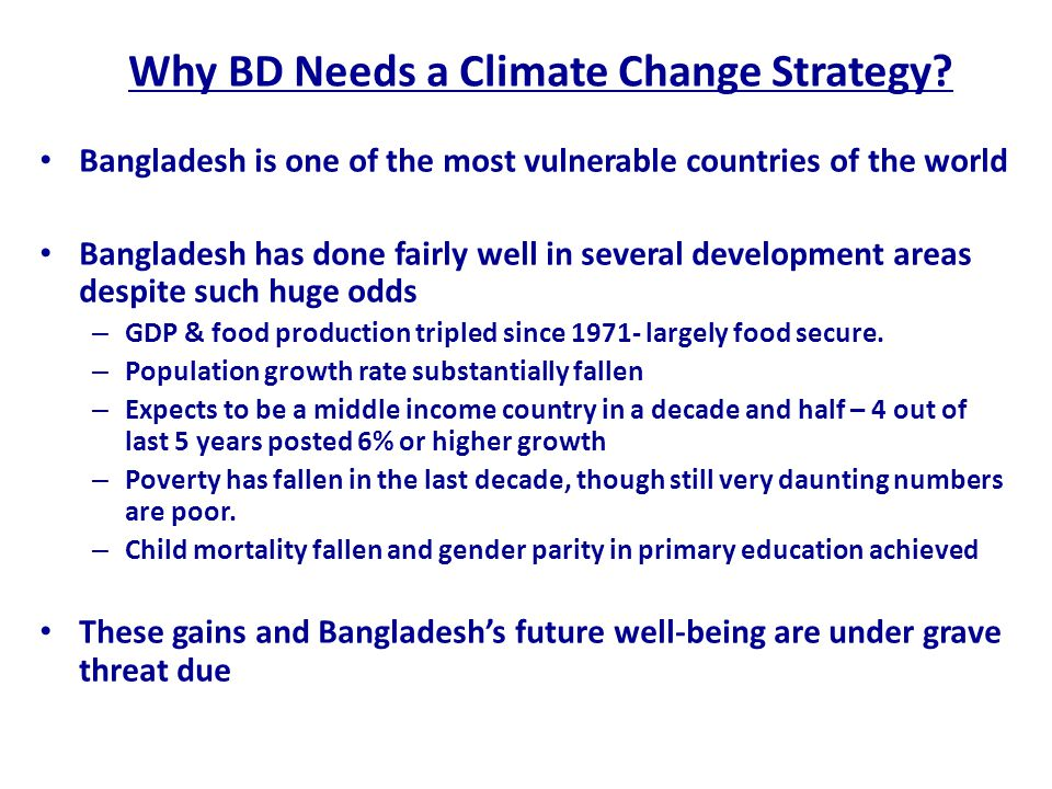 Why BD Needs a Climate Change Strategy