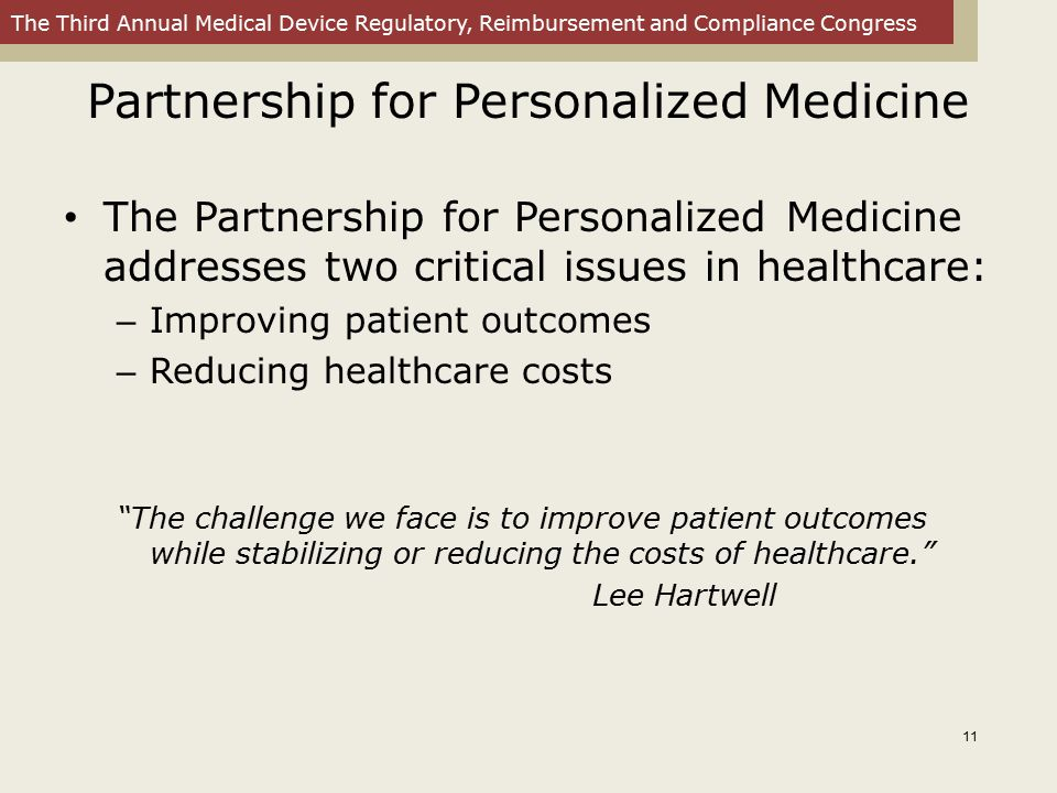 Partnership for Personalized Medicine
