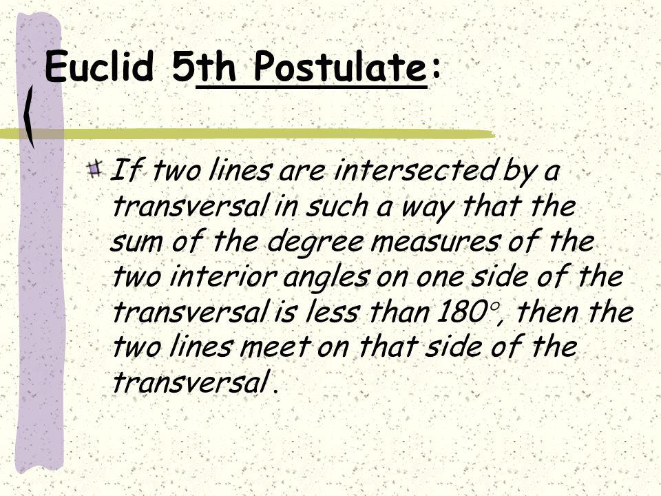 Euclid 5th Postulate: