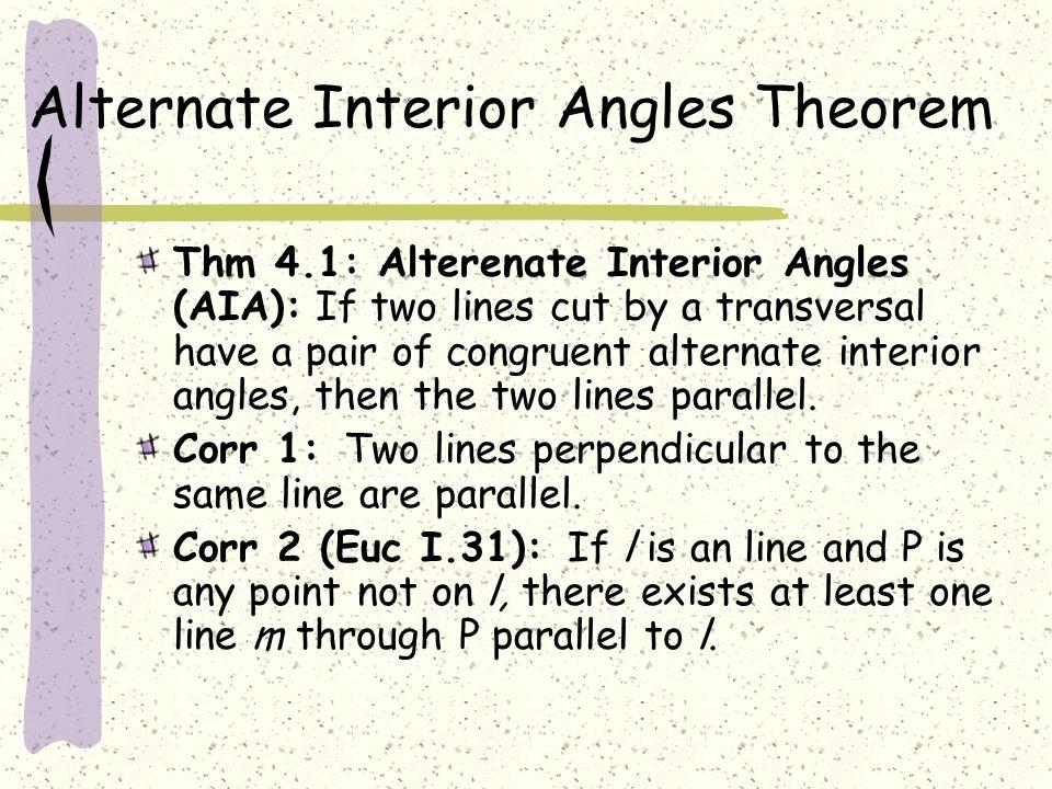 Alternate Interior Angles Theorem