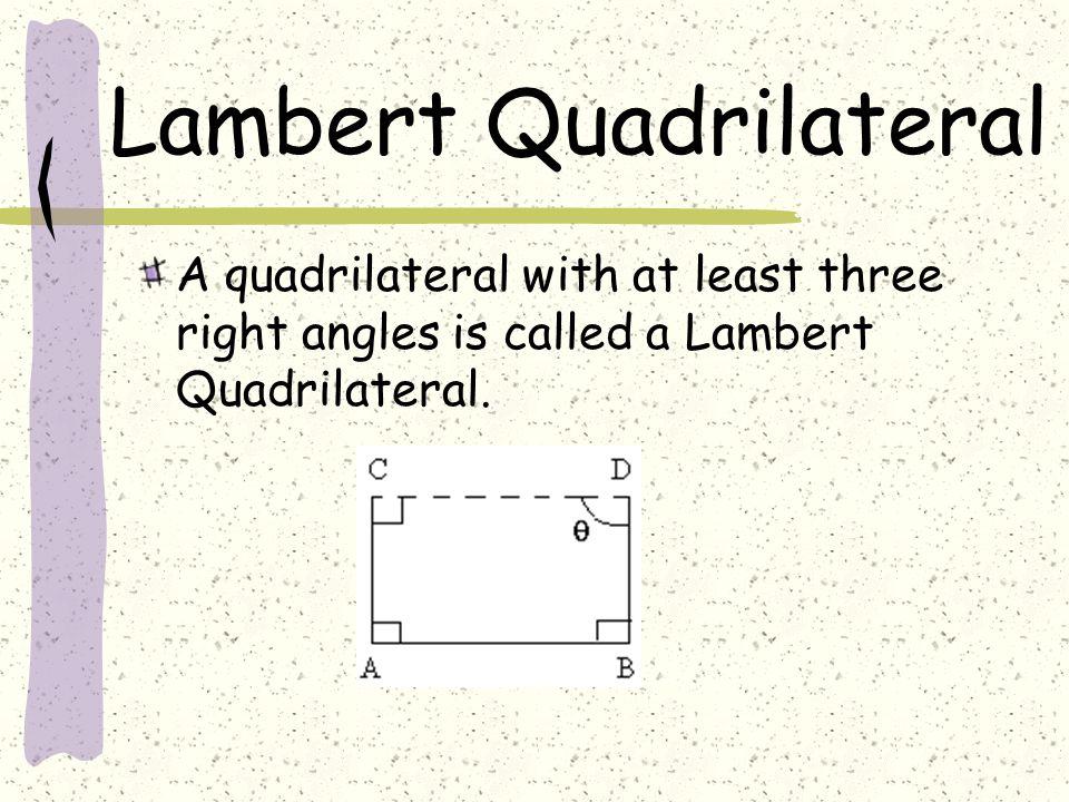 Lambert Quadrilateral