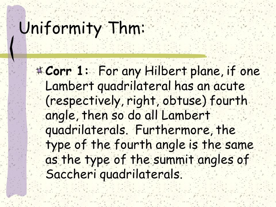Uniformity Thm: