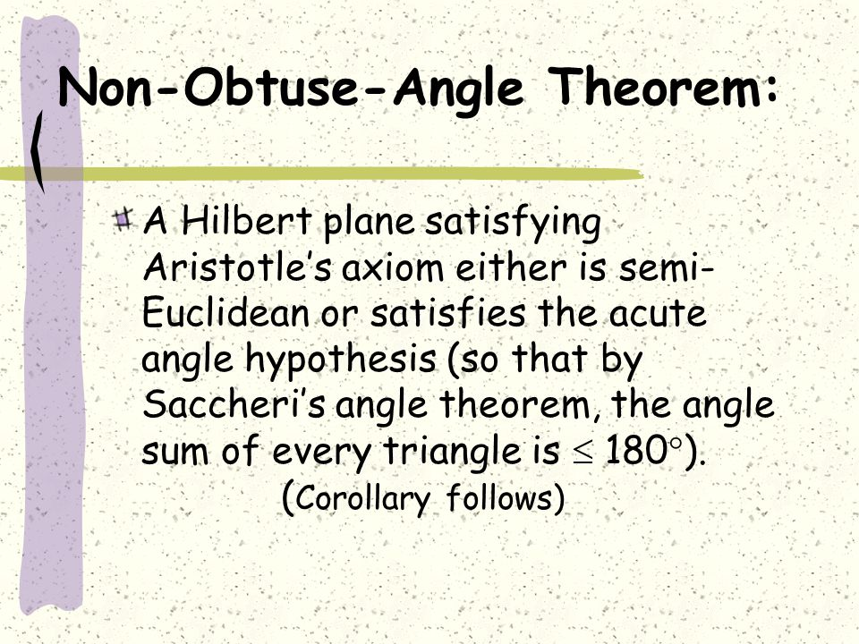 Non-Obtuse-Angle Theorem: