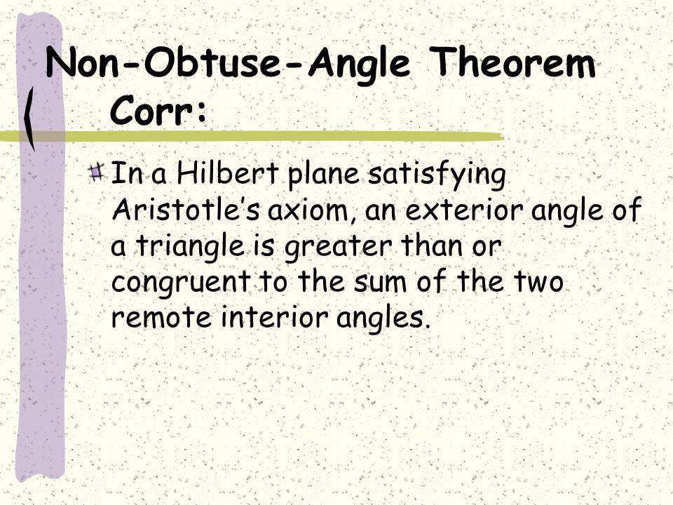 Non-Obtuse-Angle Theorem Corr: