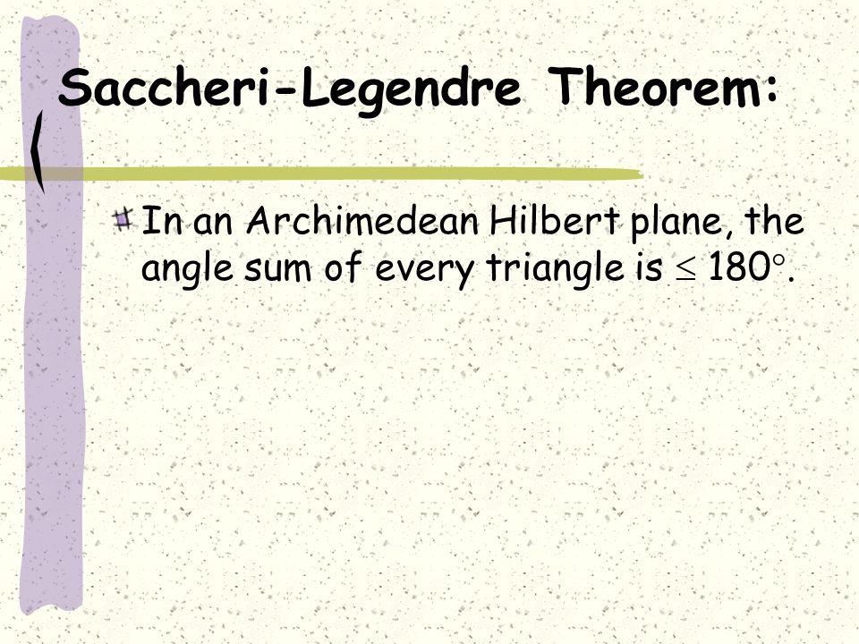 Saccheri-Legendre Theorem: