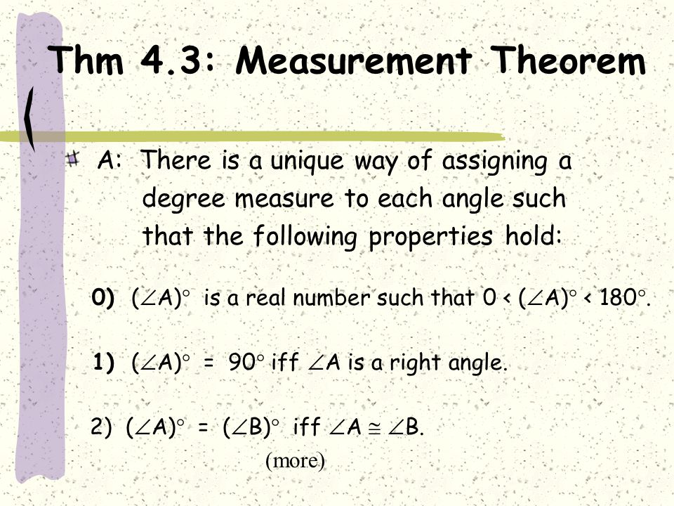 Thm 4.3: Measurement Theorem
