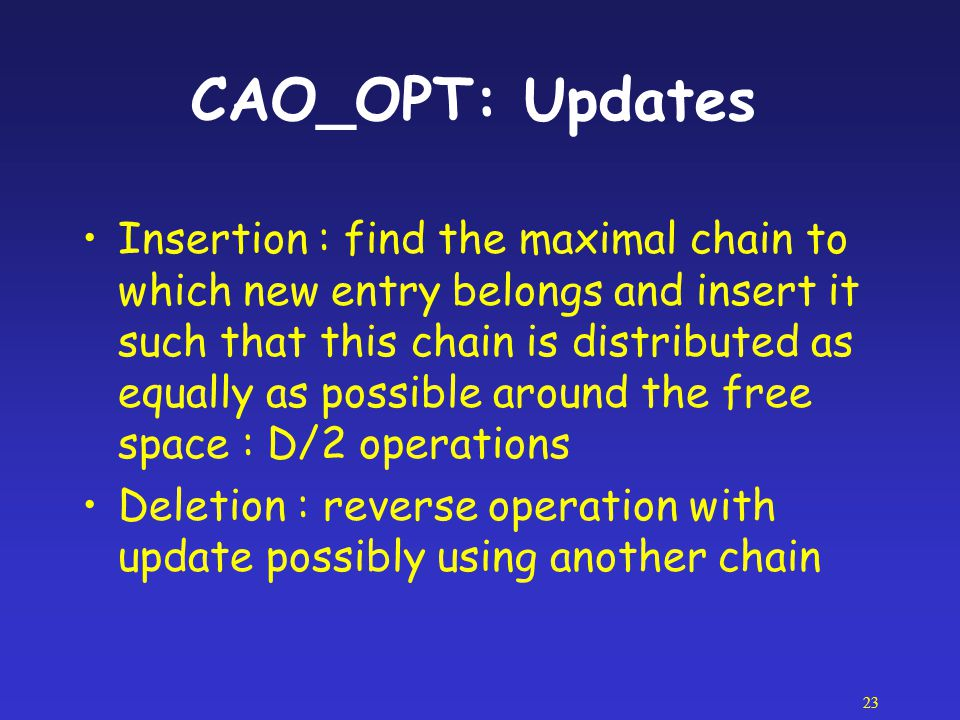 CAO_OPT: Updates