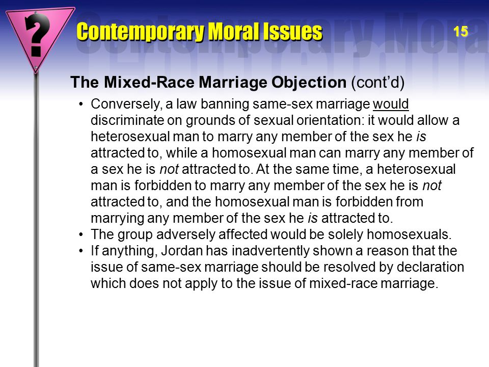 The Mixed-Race Marriage Objection (cont'd)