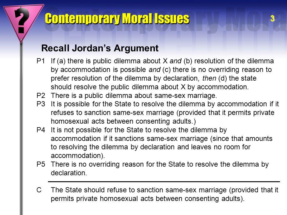 Recall Jordan's Argument