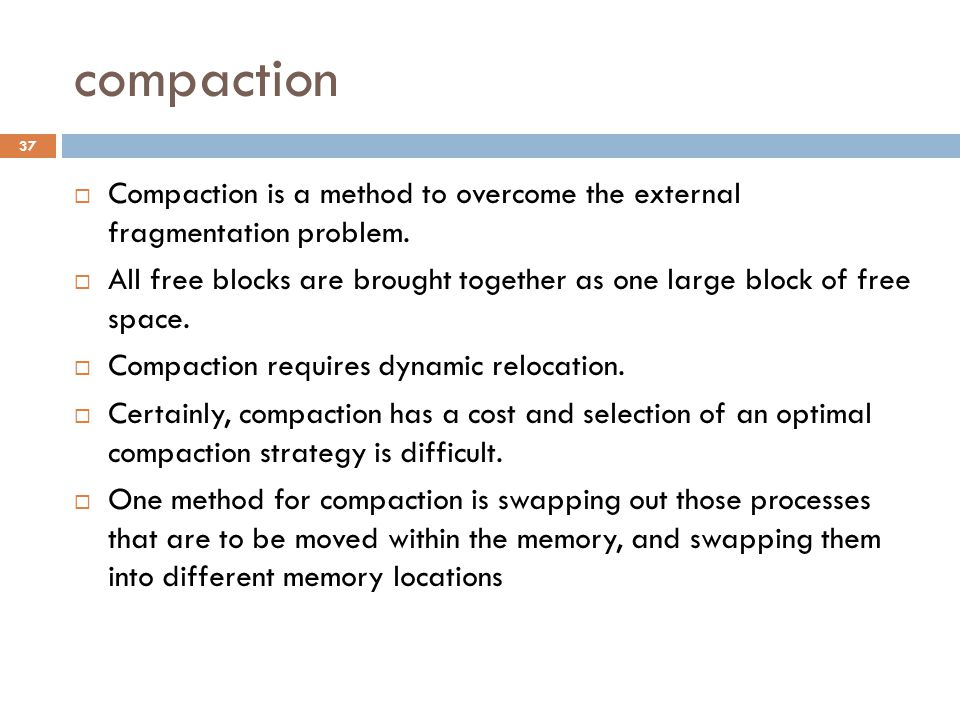 Memory mapping before compaction