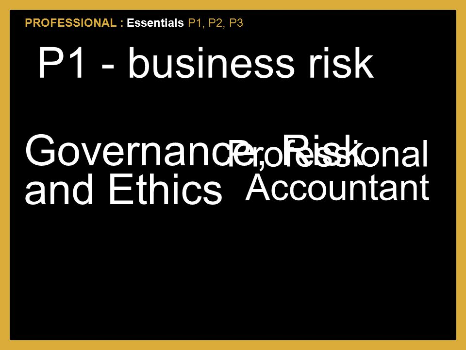 Governance, Risk and Ethics
