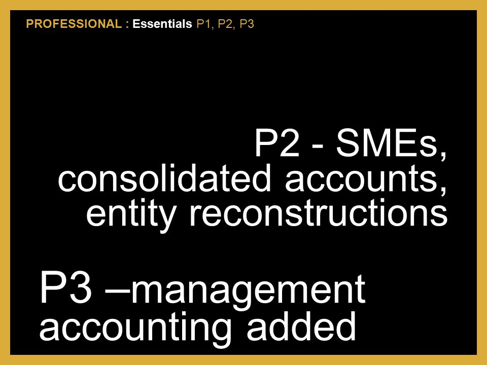 P3 –management accounting added