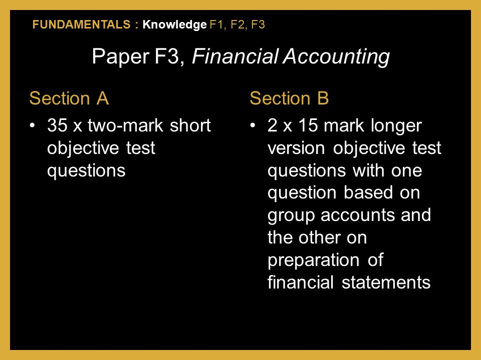 Paper F3, Financial Accounting