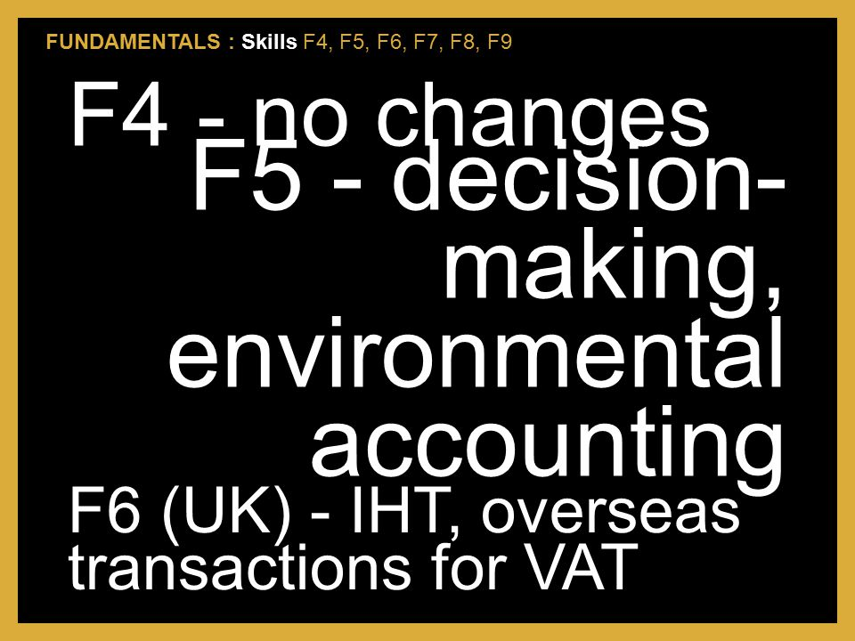 F5 - decision-making, environmental accounting