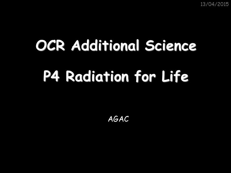 OCR Additional Science