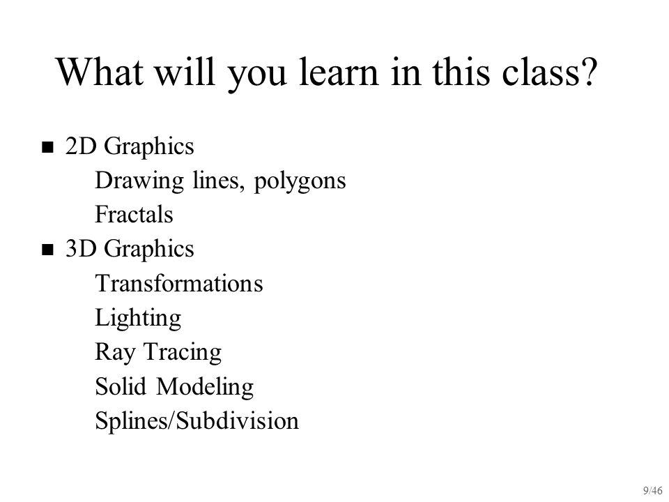 What will you learn in this class