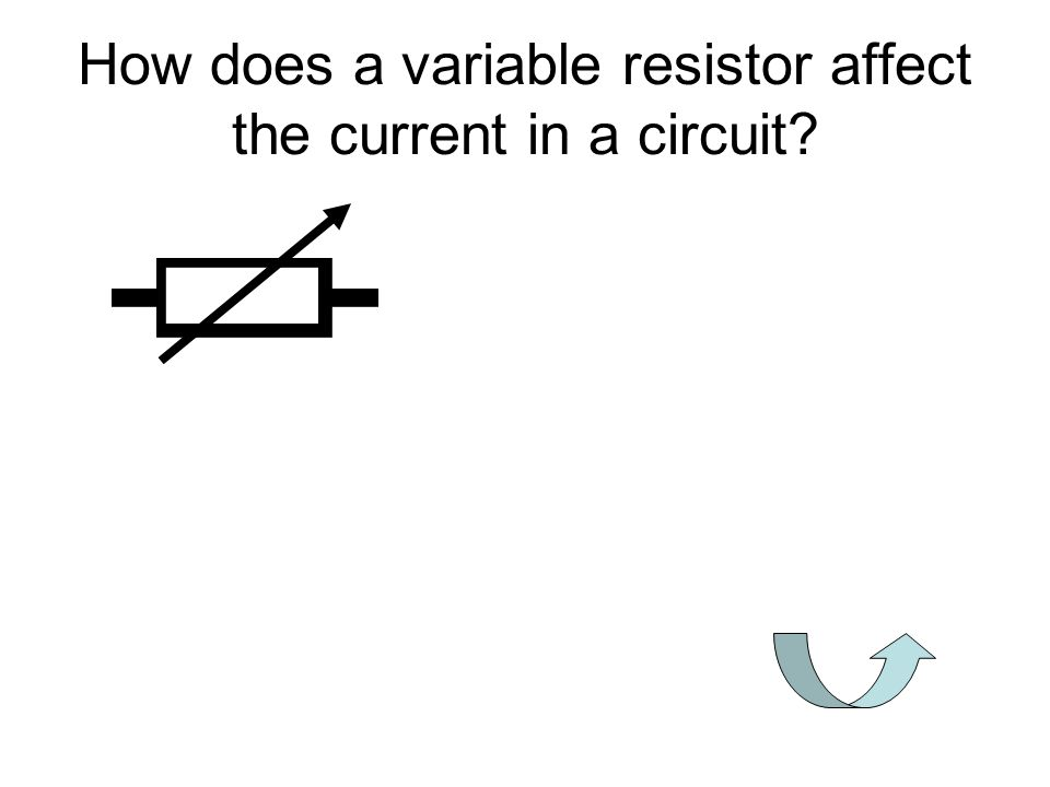 How does a variable resistor affect the current in a circuit