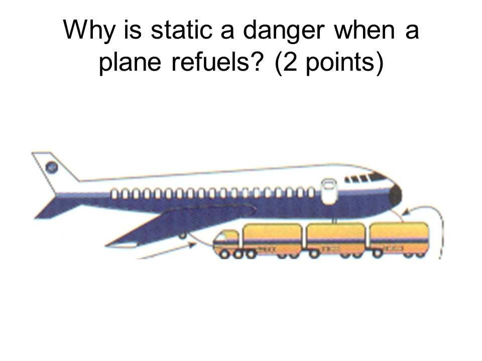 Why is static a danger when a plane refuels (2 points)