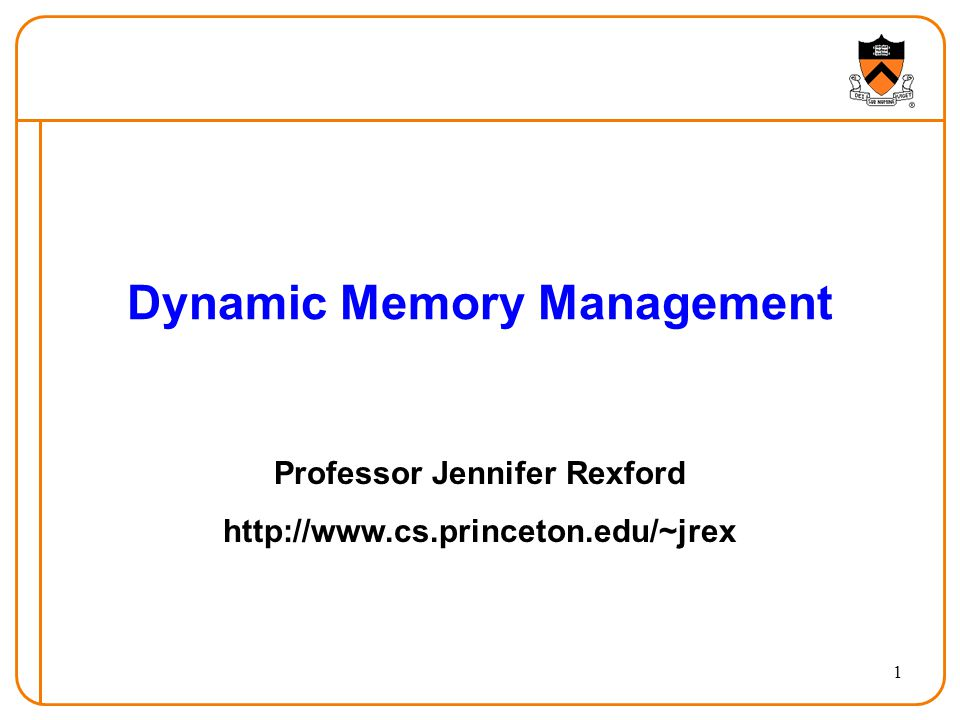 Dynamic Memory Management