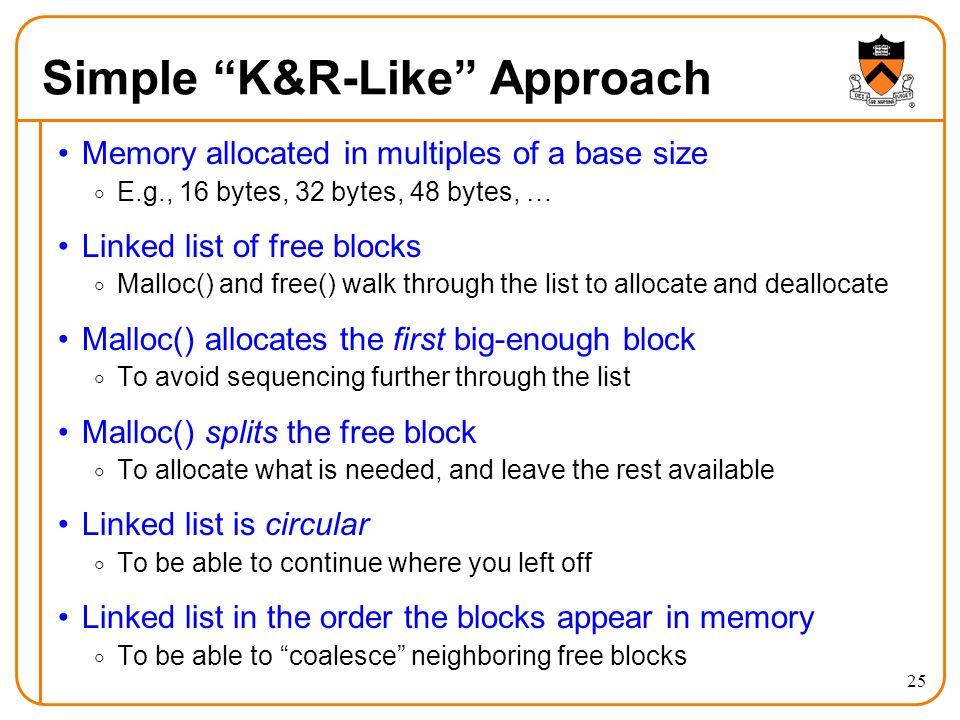 Simple K&R-Like Approach