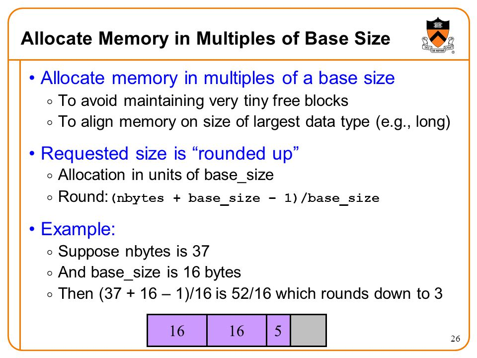 Allocate Memory in Multiples of Base Size
