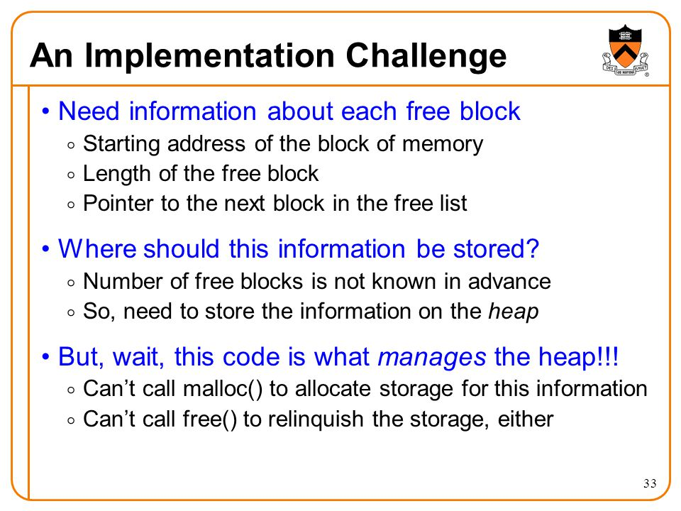 An Implementation Challenge