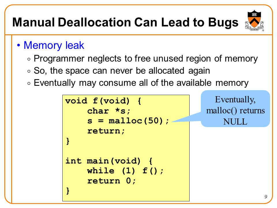 Manual Deallocation Can Lead to Bugs