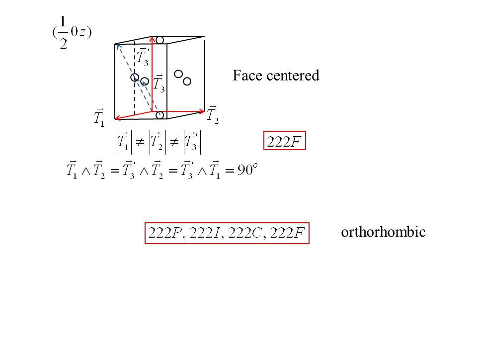 Face centered orthorhombic